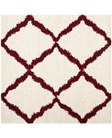 Dallas Ivory and Red 6' x 6' Square Area Rug