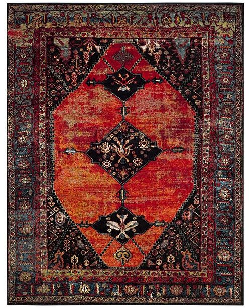 Safavieh Vintage Hamadan Orange and Multi 9' x 12' Area Rug