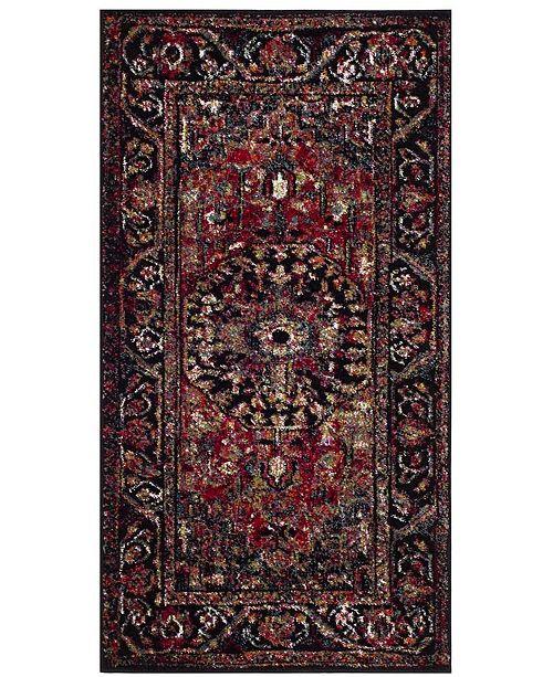 """Safavieh Vintage Hamadan Red and Multi 2'2"""" x 4' Area Rug"""