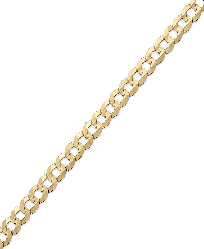 "Macy's Curb Chain 9"" Bracelet in 14k Gold"