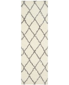 """Montreal Ivory and Grey 2'3"""" x 7' Runner Area Rug"""