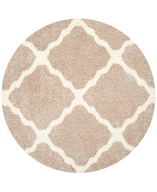 """Montreal Beige and Ivory 6'7"""" x 6'7"""" Round Area Rug"""