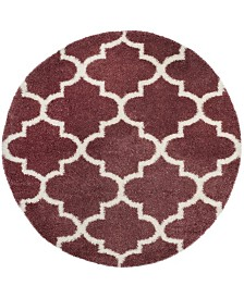 """Safavieh Montreal Rose and Ivory 6'7"""" x 6'7"""" Round Area Rug"""