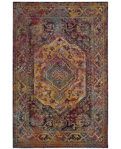Safavieh Crystal Teal and Rose 5' x 8' Area Rug