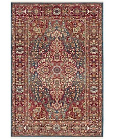 "Safavieh Kashan Blue and Red 5'1"" x 7'5"" Area Rug"
