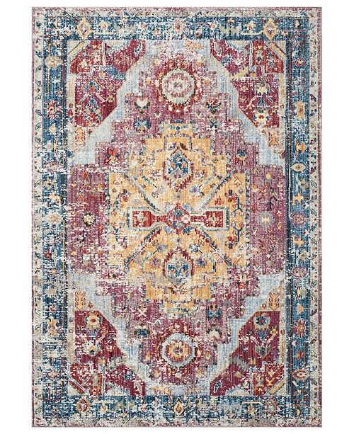 Safavieh Bristol Red and Blue 6' x 9' Area Rug