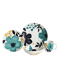 Bella Floral 16 Piece Dinnerware Set