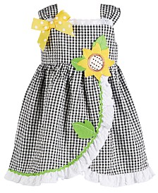 Bonnie Baby Baby Girls Gingham Seersucker Dress