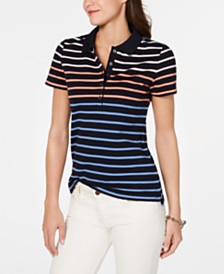 Tommy Hilfiger Tabby Striped Polo Top