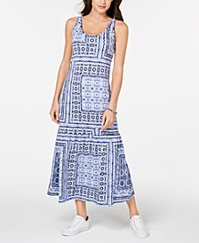 Patchwork-Print Maxi Dress, Created for Macy's