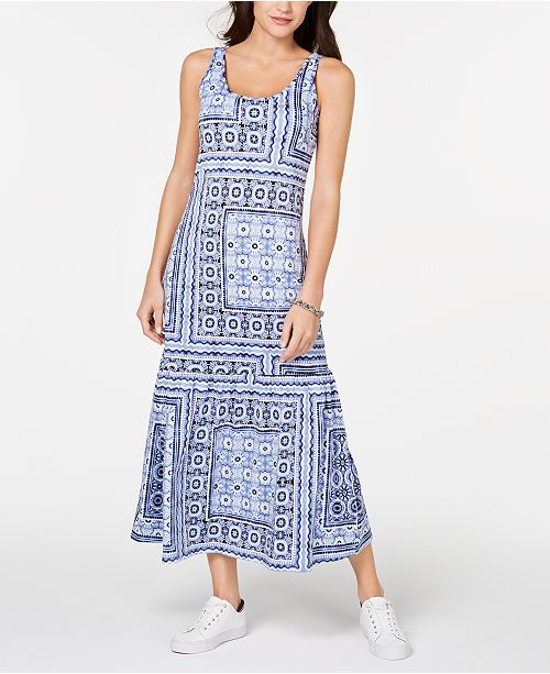 40b656580f6 ... Tommy Hilfiger Patchwork-Print Maxi Dress, Created for Macy's ...