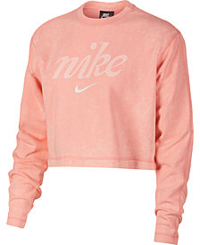 Nike Sportswear Cotton Washed Cropped Sweatshirt