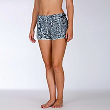 Juniors' Phantom Leopard Print Board Shorts