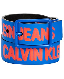 Calvin Klein Big Boys Shadow Logo Printed Belt