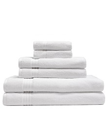Elite Home 6-Pc. Organic Cotton Towel Set