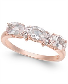 Morganite (1-1/3 ct. t.w.) & Diamond Accent Statement Ring in 14k Rose Gold