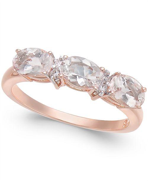 Macy S Morganite 1 1 3 Ct T W Diamond Accent Statement Ring