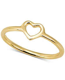 Love Count Heart Ring in 14k Gold-Plate Over Sterling Silver