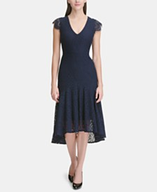 Tommy Hilfiger High-Low Lace Dress