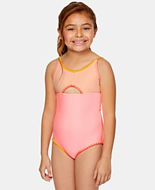 Big Girls 1-Pc. Colorblocked Swimsuit