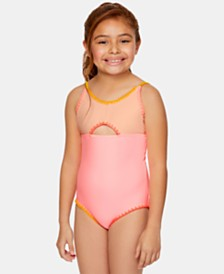 Summer Crush Big Girls 1-Pc. Colorblocked Swimsuit