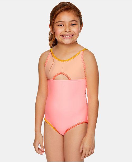 Summer Crush Big Girls 1-Pc. Colorblocked Swimsuit