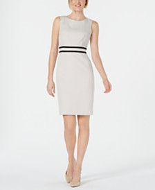 Kasper Petite Jacquard Sheath Dress