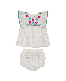 Masala Baby Girls Wave Ruffle 2 Pc Set