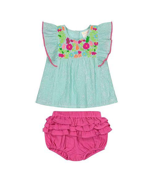 0983092a5a Masala Baby Girls Wave Ruffle 2 Pc Set - Dresses - Kids - Macy's