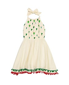 Masala Baby Girls Island Halter Dress Cactus Pebble