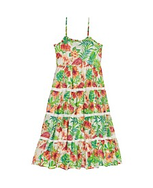 Masala Baby Girls Sundress Flamingo Island
