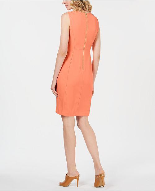 c49120c8 Calvin Klein Scuba Crepe Sheath Dress & Reviews - Dresses - Women ...