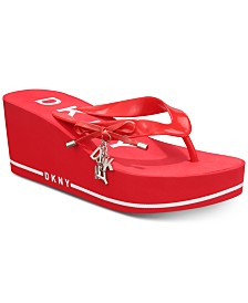 DKNY Nina Thong Wedge Sandals, Created for Macy's