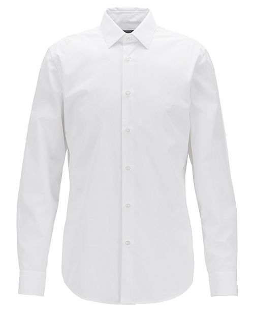 6f1b575a9 Hugo Boss BOSS Men's Isko Slim-Fit Cotton Shirt & Reviews - Dress ...