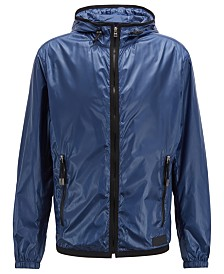 BOSS Men's Colys Hooded Windbreaker Jacket