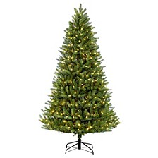 International 7.5 ft. Pre-Lit Green Mountain Fir Artificial Christmas Tree with 700 Clear UL listed Lights