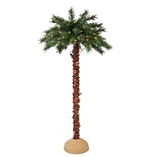 International Premium 5 ft. Pre-Lit Artificial Palm Tree with 150 UL-Listed Lights