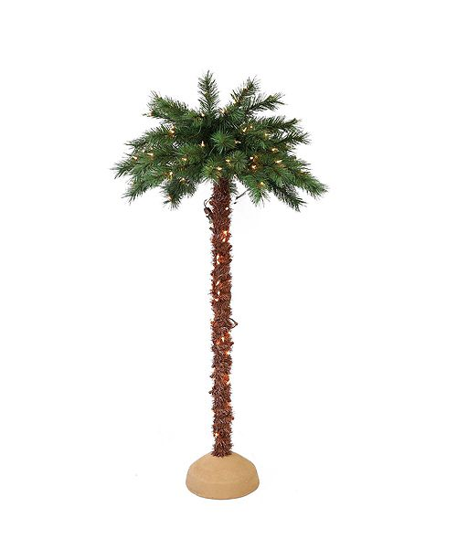 Puleo International Premium 5 ft. Pre-Lit Artificial Palm Tree with 150 UL-Listed Lights