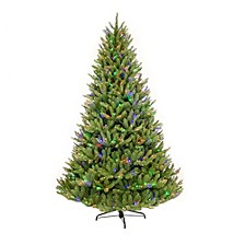 International 7.5 ft. Pre-Lit Franklin Fir Artificial Christmas Tree with 750 Clear/Multi-Colored LED UL listed Lights