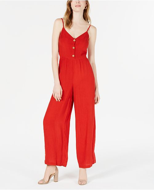 Planet Gold Juniors' Wide-Leg Jumpsuit