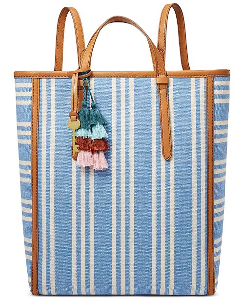 Fossil Camilla Striped Convertible Backpack