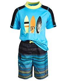 Laguna Little Boys 2-Pc. Summer Stripe Swim Set
