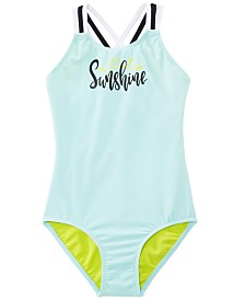 Summer Crush Big Girls 1-Pc. Sunshine Swimsuit