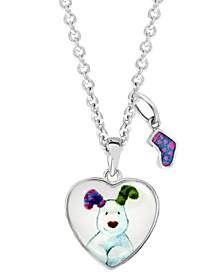 Snowdog Heart Pendant Necklace