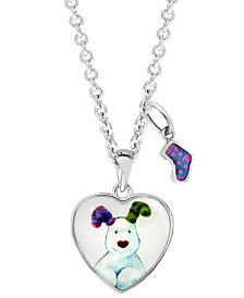 Snowdog Heart Pendant Necklace