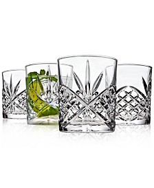 Godinger Dublin Acrylic Set of 4 Double Old Fashioned Glasses