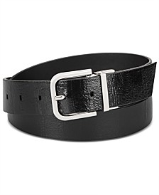 Calvin Klein Reversible Embossed Leather Belt