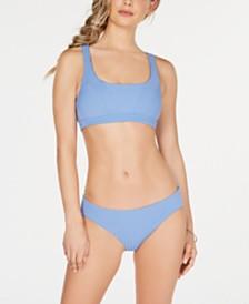 Becca Ribbed Bralette Top & Bikini Bottoms