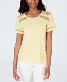 8190dd5b6735 Charter Club Cotton Lace-Trim Top, Created for Macy's