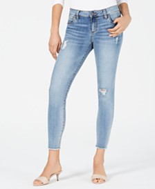 Kut from the Kloth Connie Ankle Skinny Frayed Jeans